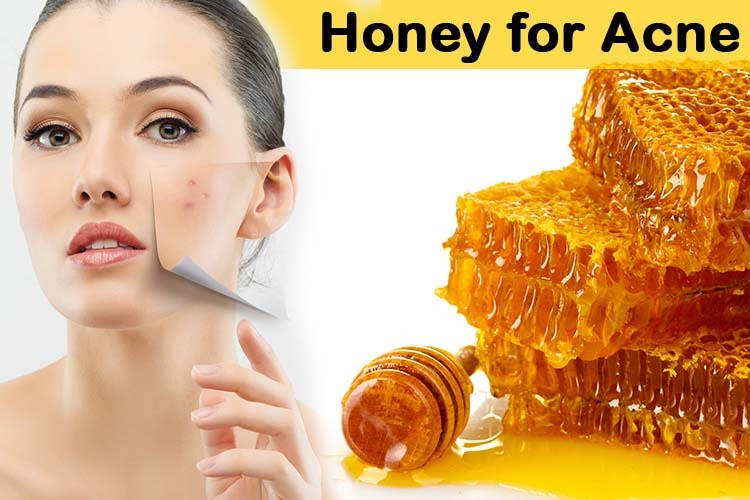 putting honey on face
