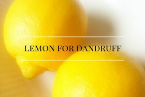 lemon for dandruff