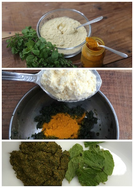 Mint With Turmeric For Dark Circles